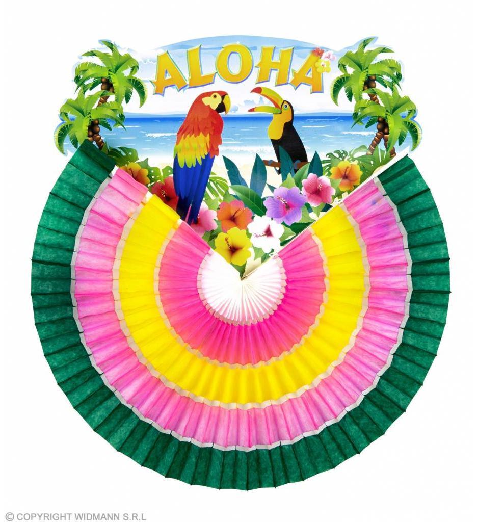 Papieren Waaier Aloha 46Cm