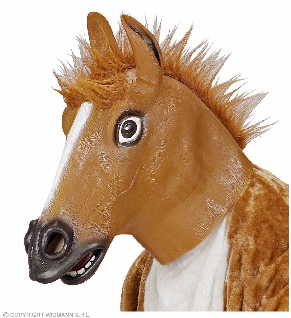 Masker Bruin Paard Met Haar