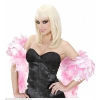 Widmann Boa. 2-Kleurig Wit/Roze 180Cm