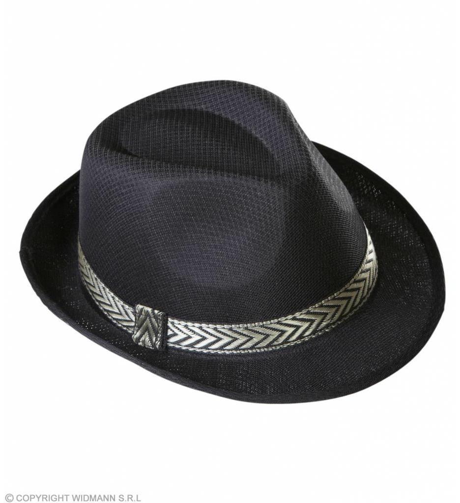 Zwarte Fedora Panama