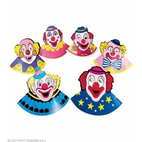 Widmann 6 Hoedjes Clown