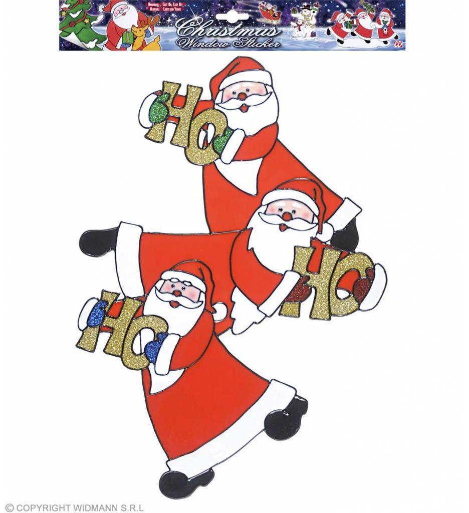 Vertikale Kerstman Stickers 40Cm