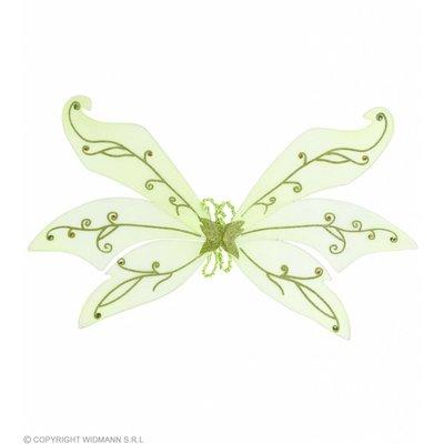 Maxi Vleugel Glitter Groen Met Diamanten