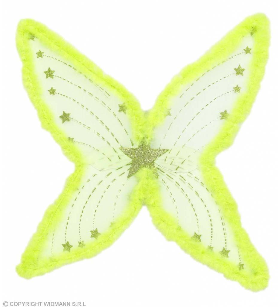 Maxi Vleugel Glitter Groen Met Marabou