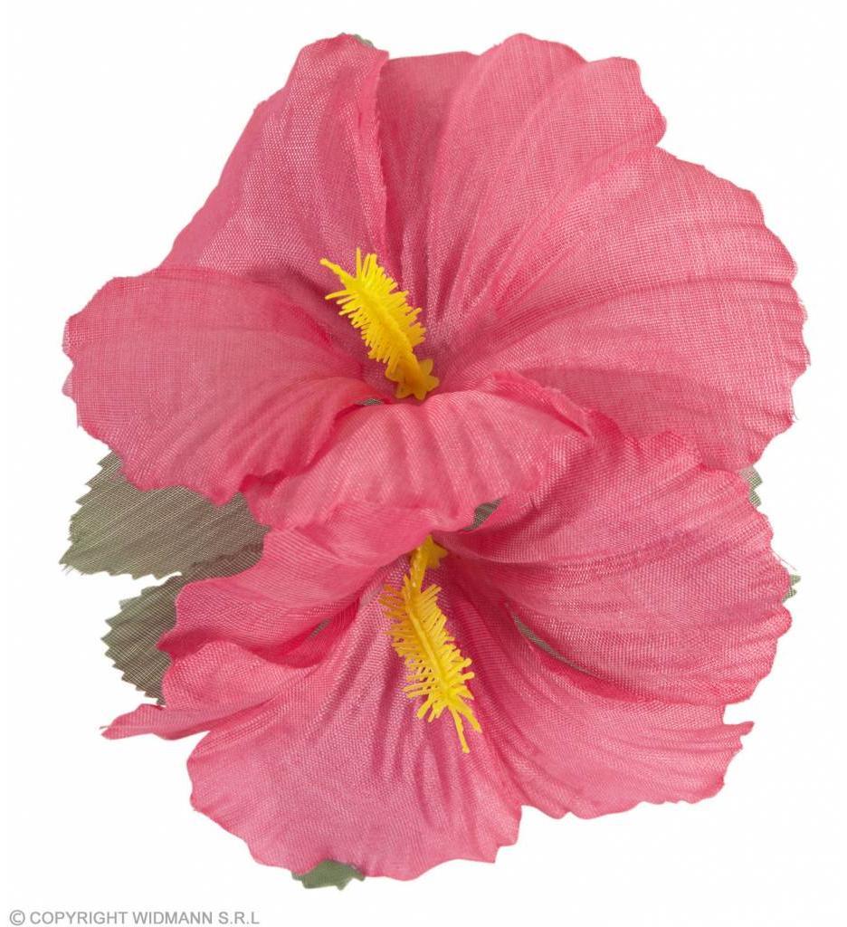 Haarclip Met 2X Hibiscus Roze