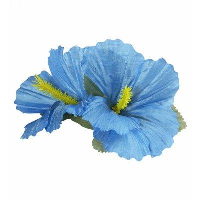 Haarclip Met 2X Hibiscus Lichtblauw