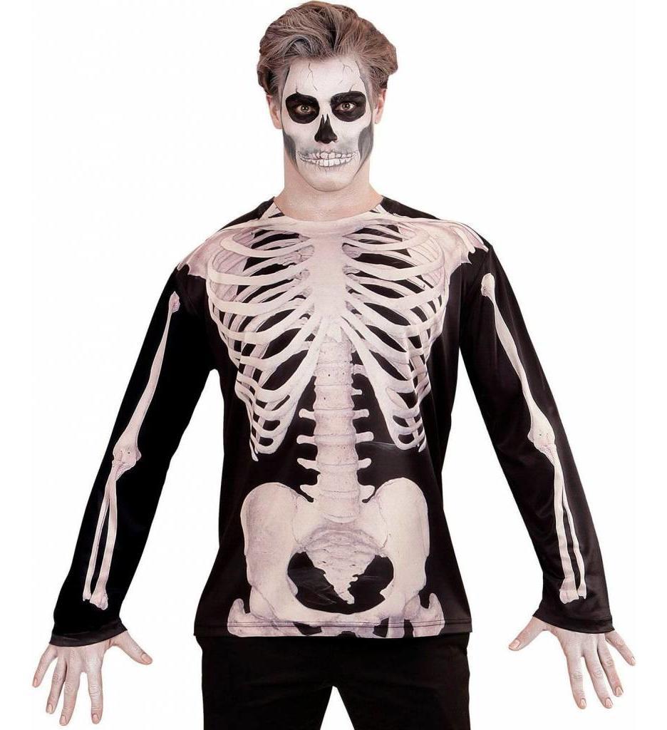 T-Shirt Lange Mouwen Skelet Man