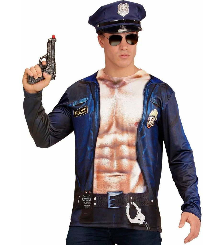 T-Shirt Lange Mouwen Politieman