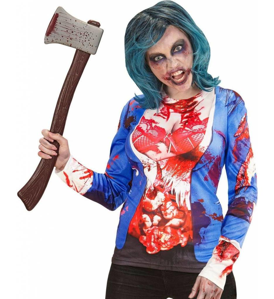T-Shirt Lange Mouwen Zombie Vrouw