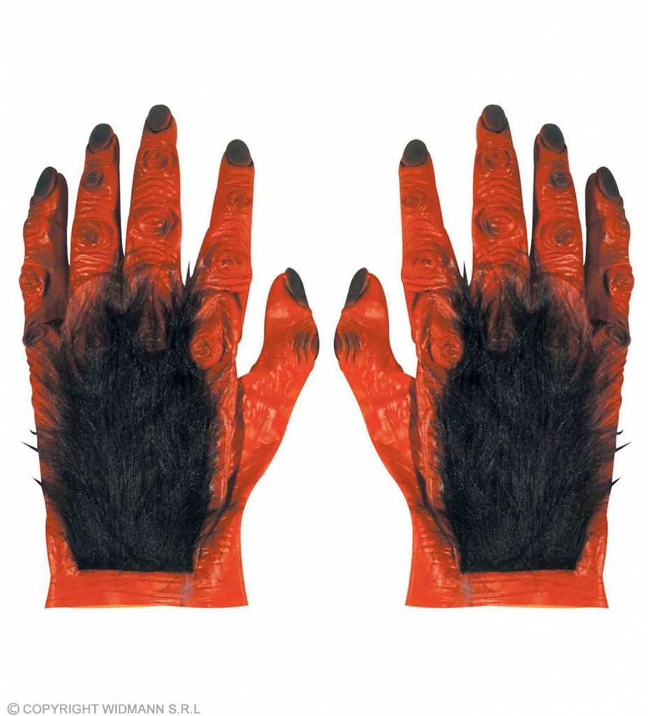 Paar Duivelshanden Met Haar