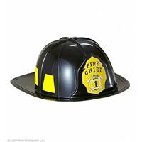 Brandweerhelm Zwart Hard Plastic