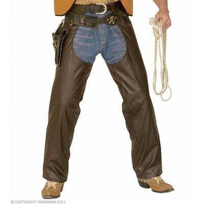 Bruine Cowboychaps Lederlook