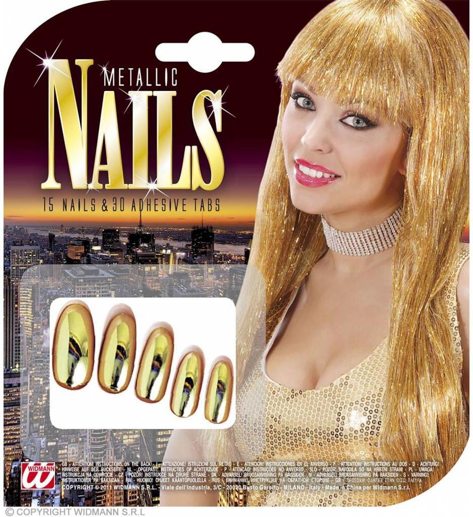 Nagels Goud Metalic Verpakt Per 15