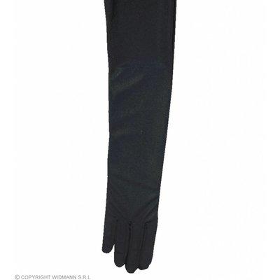 Handschoenen Satijn Zwart 60Cm