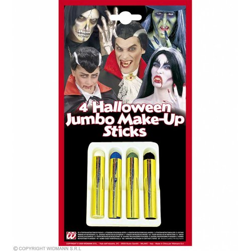 4 Jumbo Aqua Halloween Sticks