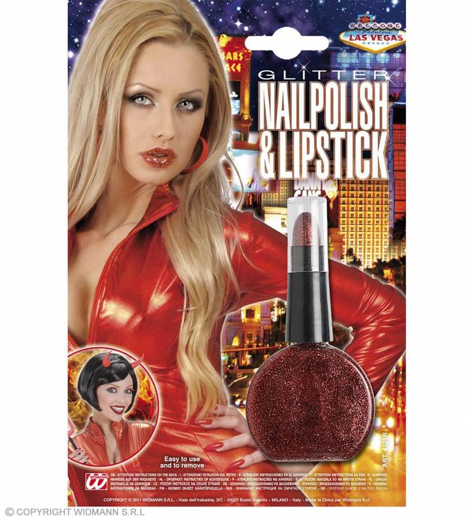 Combi Lippenstift En Nagellak Rood