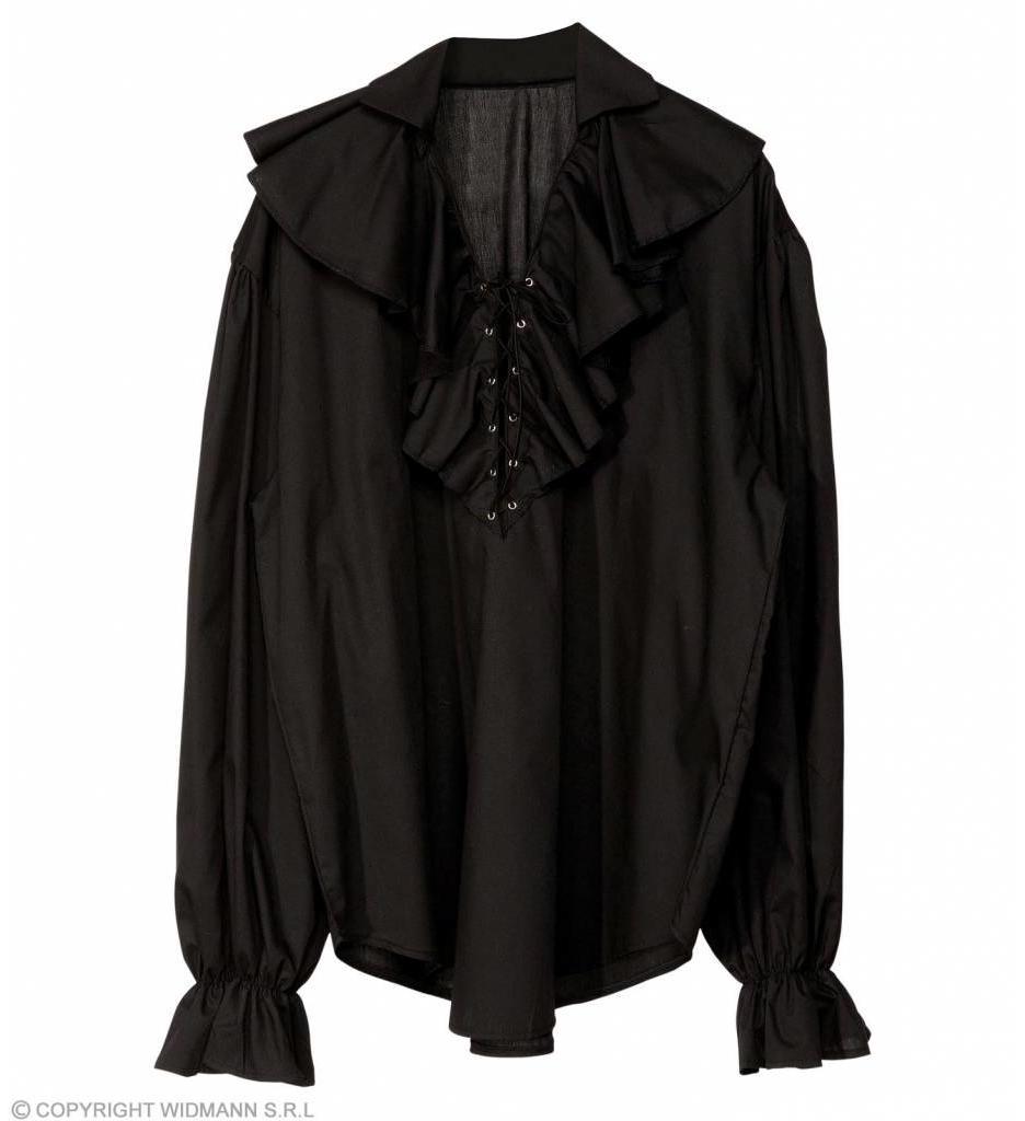 Piratenshirt Dames Zwart