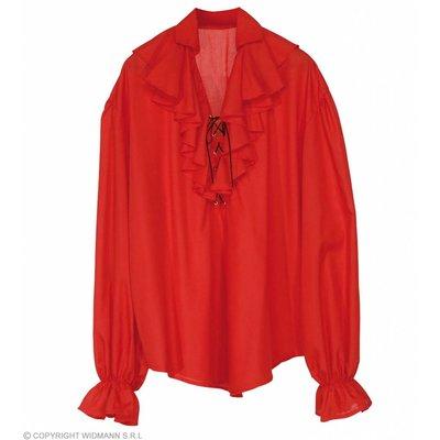 Piratenshirt Dames Rood