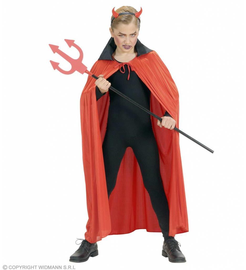 Kindercape Rood Met Zwarte Kraag