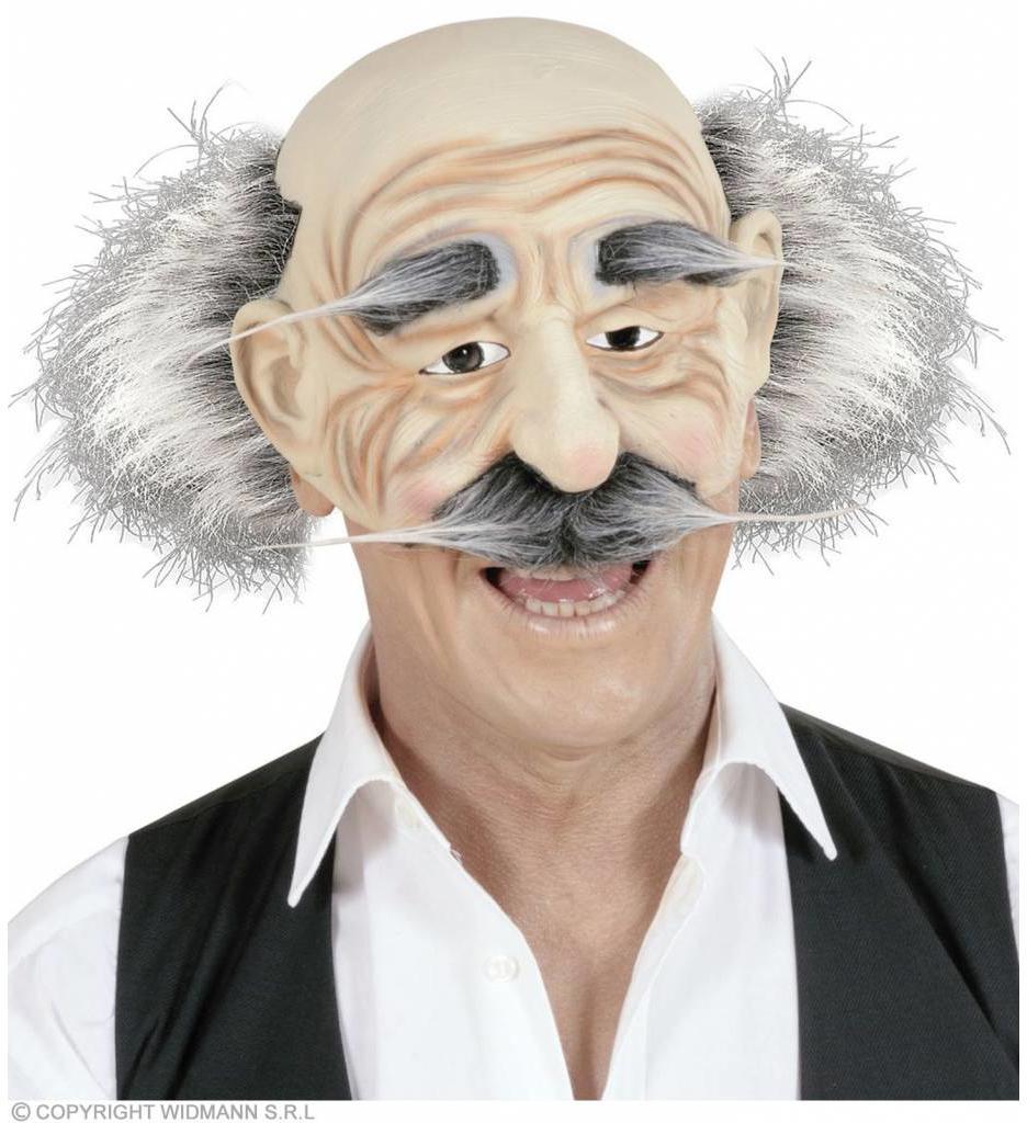 Masker Oude Man Zonder Kin