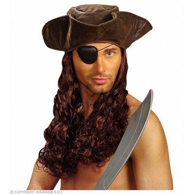 Velvet Look Piratenmuts Met Pruik