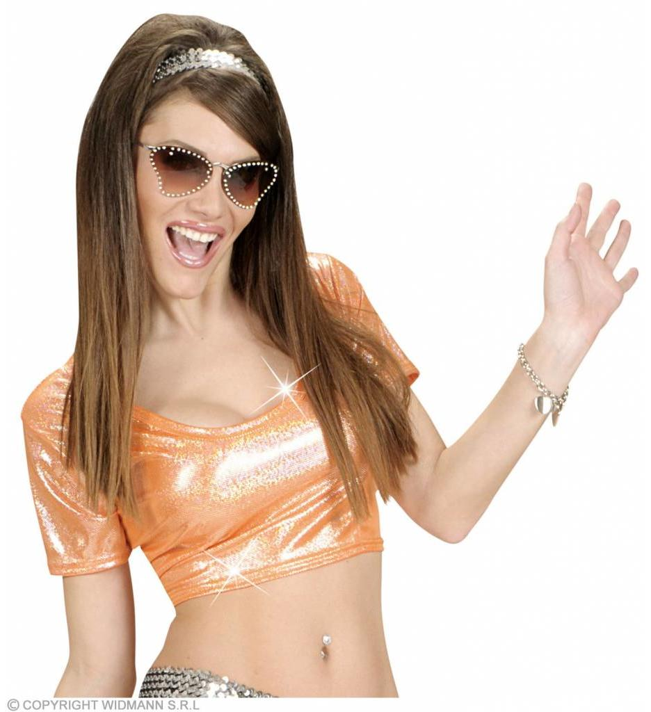 Top Holografisch Oranje