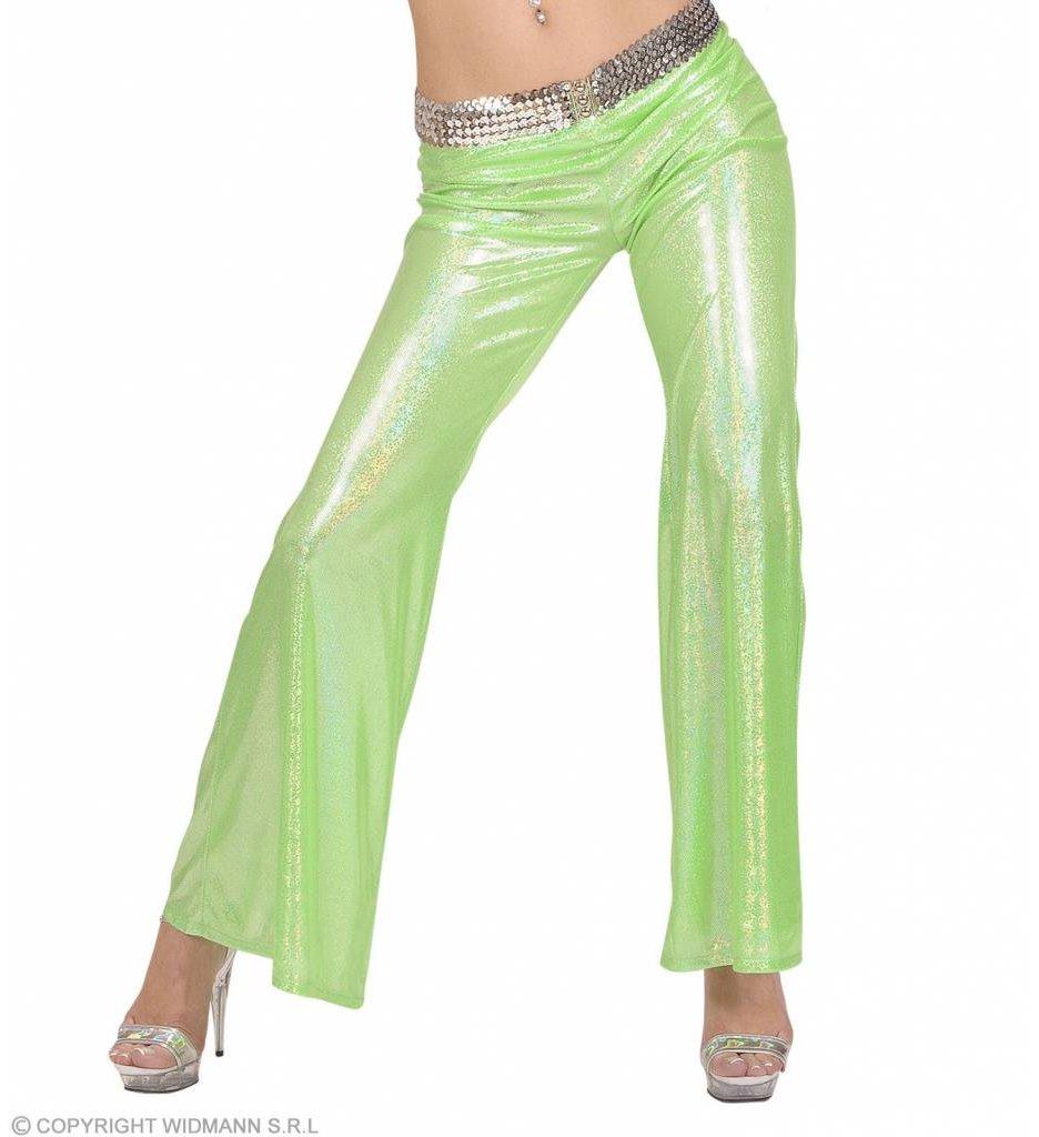 Holografische Broek Dames Groen