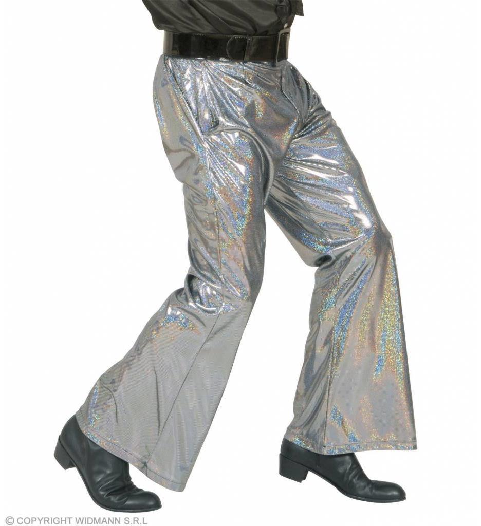 Holografische Broek Zilver
