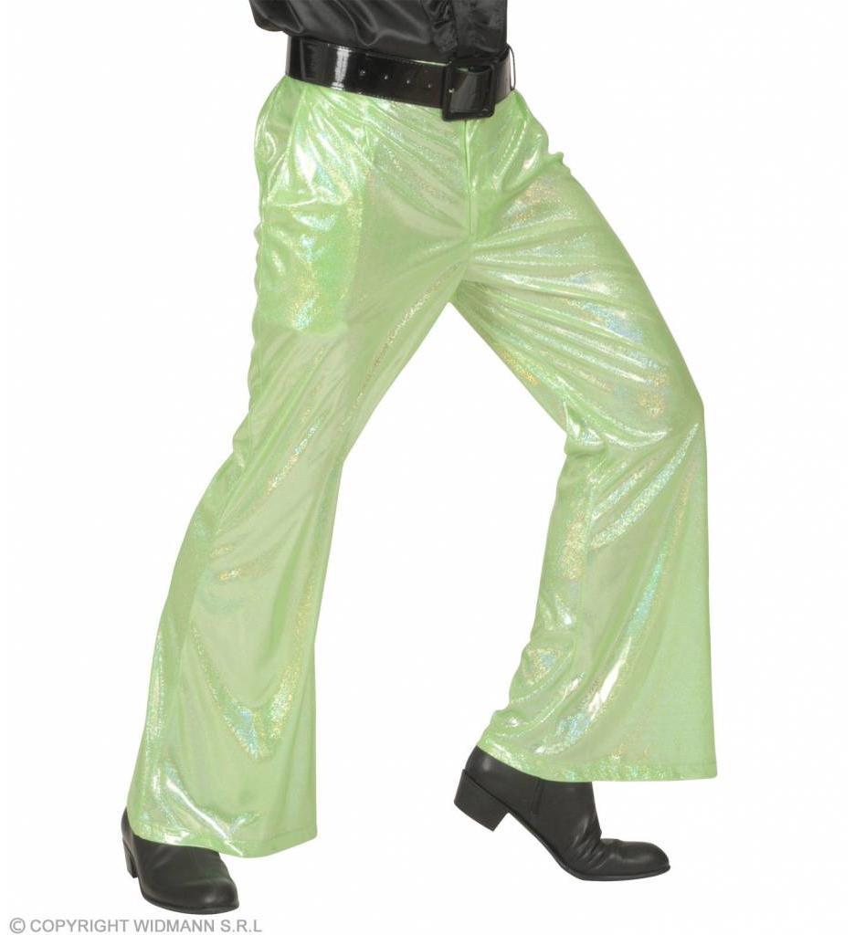 Holografische Broek Groen
