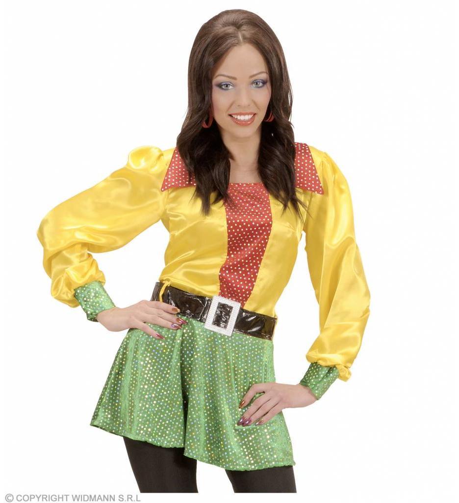 Shirt Pailletten Satijn 3-Kleuren  Vrouw