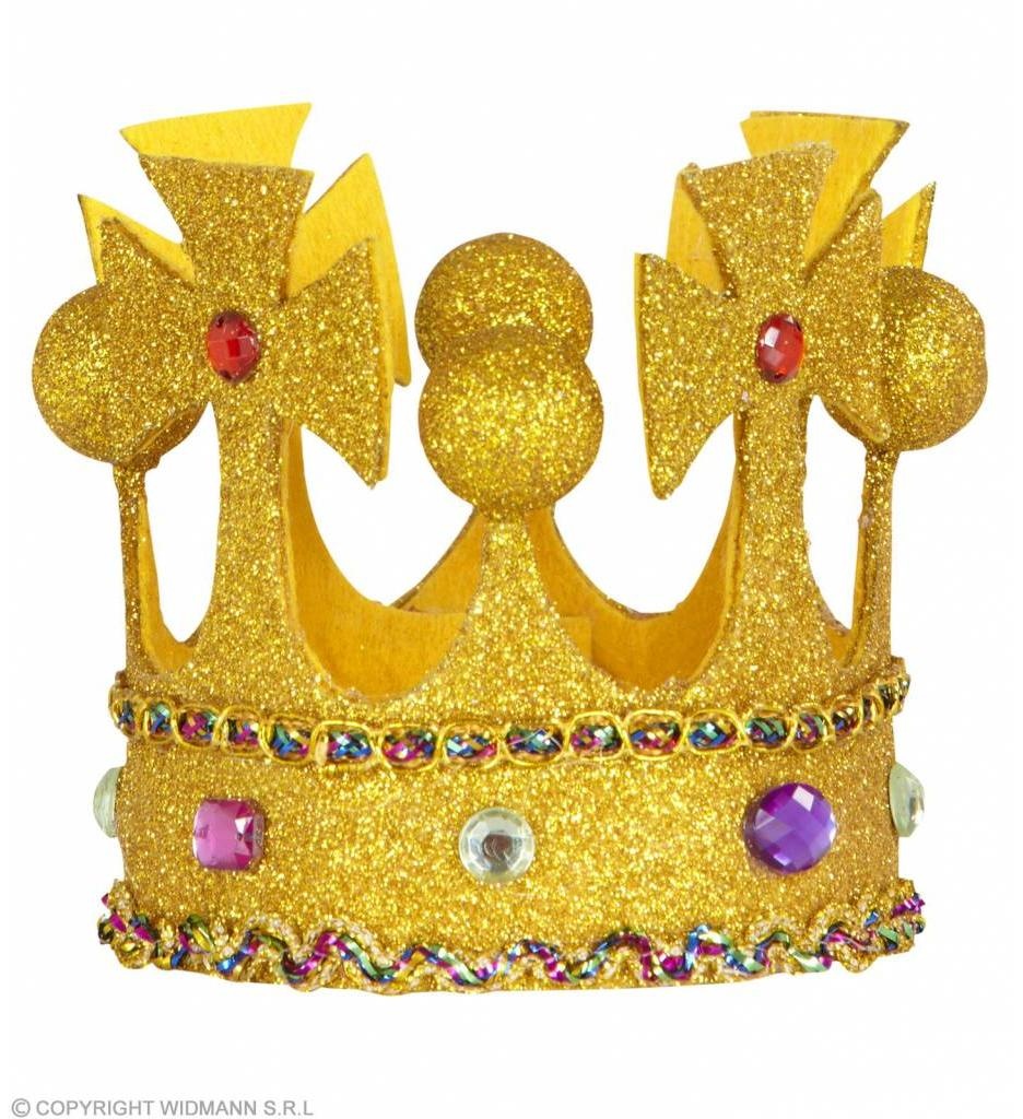 Mini Glitter Kroon Met Stenen Buigbaar