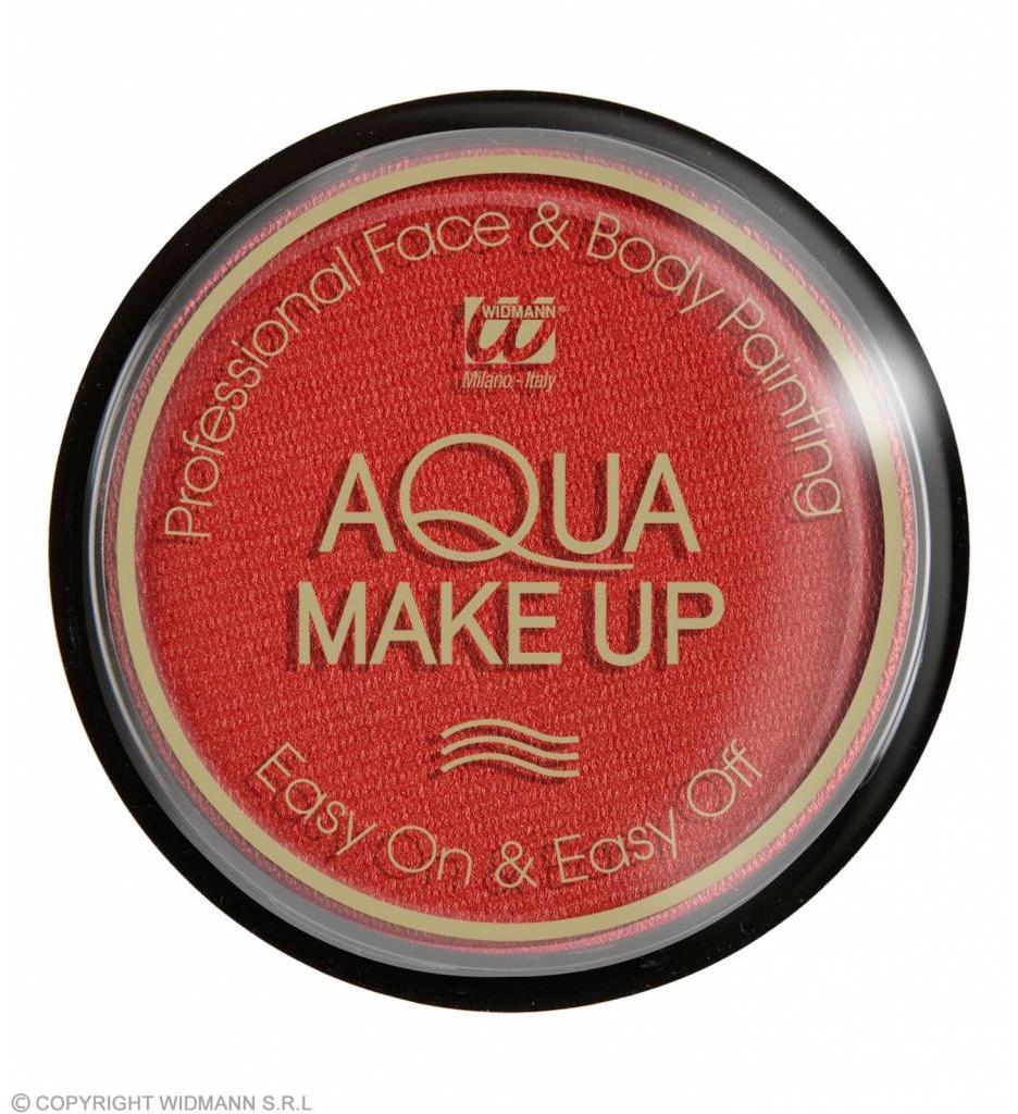 Aqua Make-Up Metalic 15Gr Rood