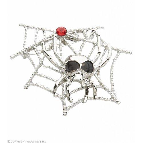 Broche Spinneweb Met Spinnen