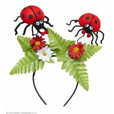 Hoofdband Lieveheersbeestje Met Bloemen