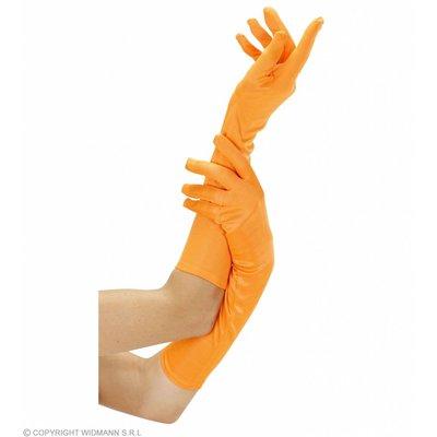 Handschoen Lang Neon Oranje
