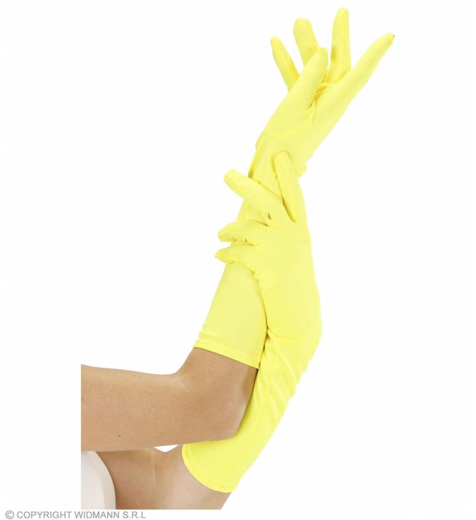 Handschoen Lang Neon Geel