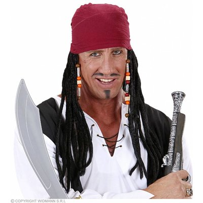 Pruik Caraibische Piraat Met Bandana