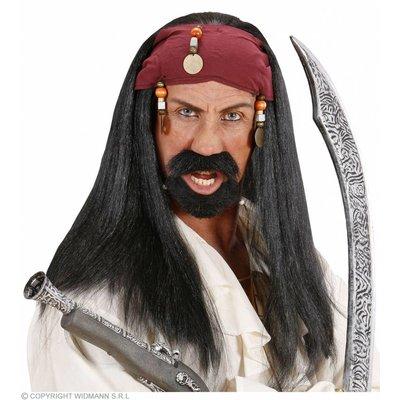 """Pruik """"Pirate Of The Caribbean"""""""