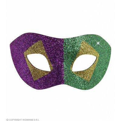 Oogmasker Mardi Gras Goud/Zwart