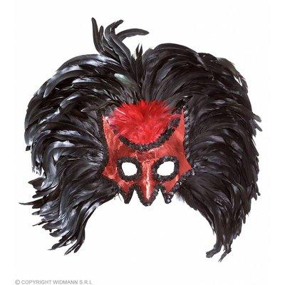 Oogmasker Duivel Met Jumbo Veren