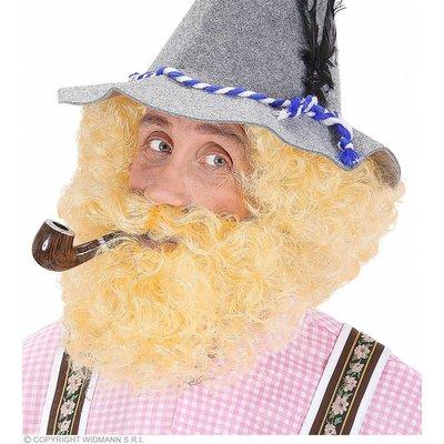 Pruik Karakter Met Krullen En Baard Blond