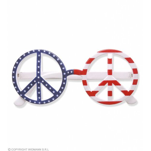 Bril Love And Peace Amerikaanse Vlag