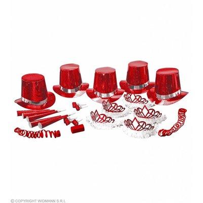 """Party Kit """"Red Las Vegas"""" 10 Personen"""