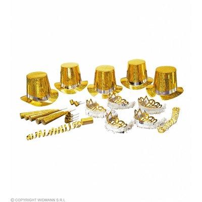 """Party Kit """"Gold Las Vegas"""" 10 Personen"""