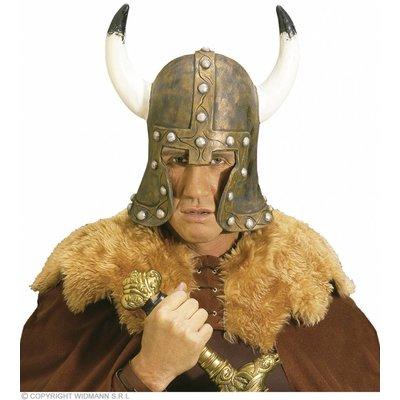 Helm Barbaar Met Hoorn Latex Brons