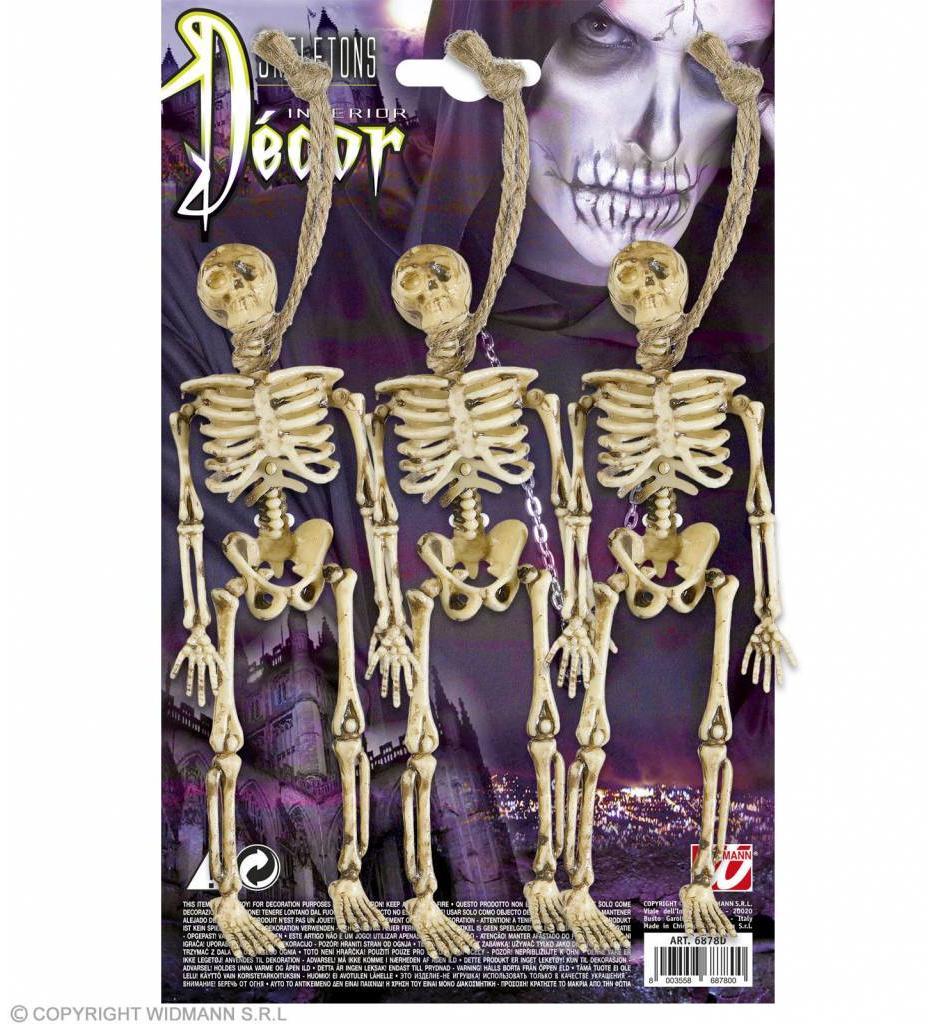 Set Van 3 Skeletjes 15Cm