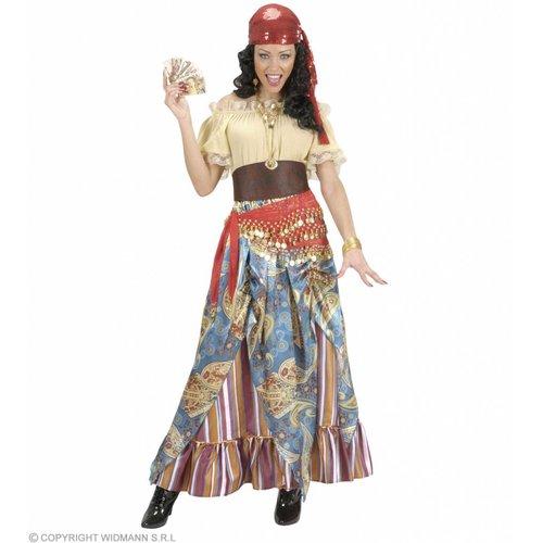 Widmann Ceintuur Buikdanseres Rood Met Gouden Muntjes
