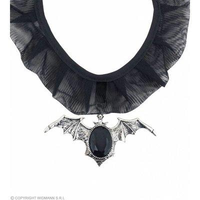 Choker Vleermuis Met Zwarte Gemsteen