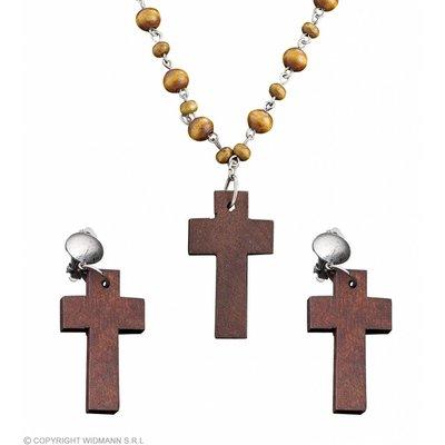Rozenkrans Met Oorringen Kruis