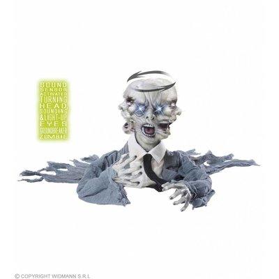 Zombie Groundbreaker Met Bew. Hoofd Geluid + Lichtg. Ogen